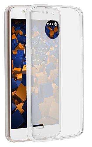 mumbi Hülle kompatibel mit Lenovo Moto E4 Handy Case Handyhülle dünn, transparent weiss