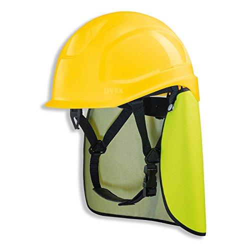 UVEX Schutzhelm pheos S-KR IES - Arbeitsschutz-Helm mit Nackenschutz - Set mit BG Bau Förderung - EN 397, Farbe:gelb