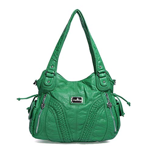 "Material: High Quality PU leather handbags shoulder tote bags; Durable and fashionable Dimension(L*W*H): Size:13.8*4.7*11.8 inches , Handle height: 10.6""/27CM(long enough to put on shoulder), Weight: about 1.65pounds/0.75KG EXTERNAL: Zipper closure, ..."
