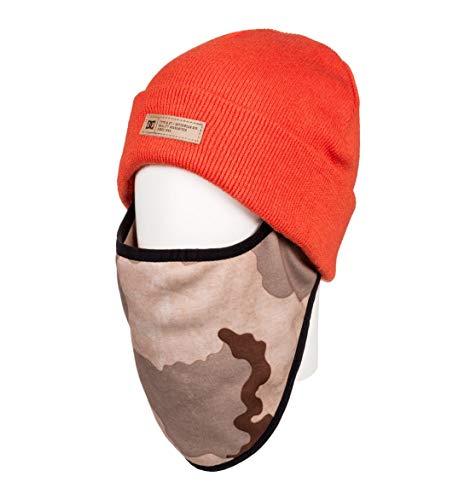 DC Shoes Variable - Bonnet avec Cache-Nez intégré - Homme - One Size - Orange