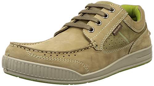 Woodland Men's OGC 1695115_Khaki Leather Sneakers-8 UK (42 EU) (9 US)