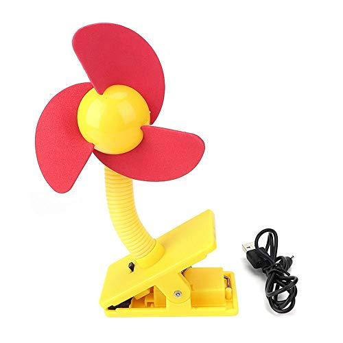 Baby kinderwagen Fan Batterij Aangedreven USB Mini Fan Office Kamer Auto Fan Clip op Bed Bike Bureau Ventilator #3