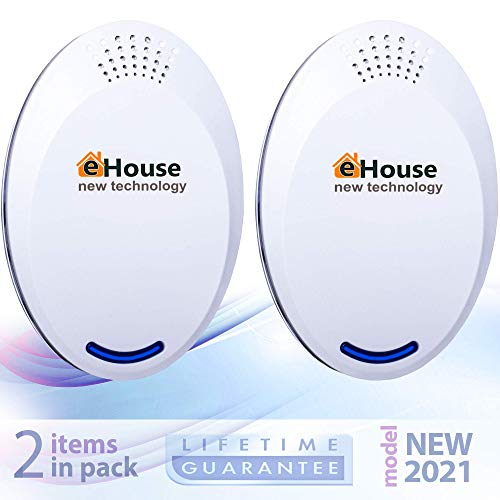 BH-4 Ultrasonic Electronic Repellent - Best Plug in - Get Rid of - Rodents, Squirrels, Mice, Rats, Bats, Insects - Roaches, Spiders, Fleas, Bed Bugs, Flies, Ants, Mosquitos, Fruit Fly! (2Pack)
