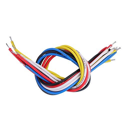 Bnineteenteam Cable de Circuito de Guitarra de 10 Piezas Cable de Guitarra eléctrica para Instrumentos de Cuerda de bajo de Guitarra eléctrica(19cm)