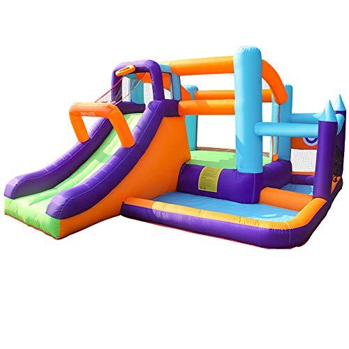 DREAMyun Castillo Hinchable para niños, casa de Rebote Inflable para niños de 3 a 10 años, Multicolor, 430 * 330 * 190 cm, Castillo Hinchable para niños