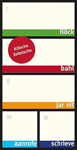 Kölsche Zettelsche - Haftnotizzettel in Box - Notizzettel mit kölschen Sprüchen - Dialekt Köln