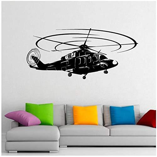 YIMING Adesivo murale per elicottero dell'aeronautica Adesivi in vinile Adesivo per interni per la casa Militare Murales Arredamento Camera da letto per adolescenti Carta da parati per Camera 92x42