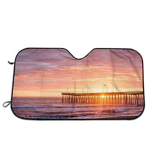 Seaside Sunrise Scenery Car Parabrisas Parasol Parasol Parabrisas Ventana Frontal Sombrillas Bloquea Rayos UV Protector de Visera de Sol Mantiene tu Vehículo Fresco