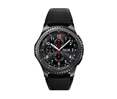 A distinctive steel bezel that you can rotate to access apps and notifications, strap with buckle: 2.76 inches, large strap with holes: 5.12 inches, small strap with holes: 4.33 inches Text, call and get notifications directly from your watch through...