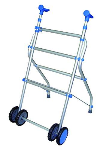 Andador con ruedas dobles y plegable