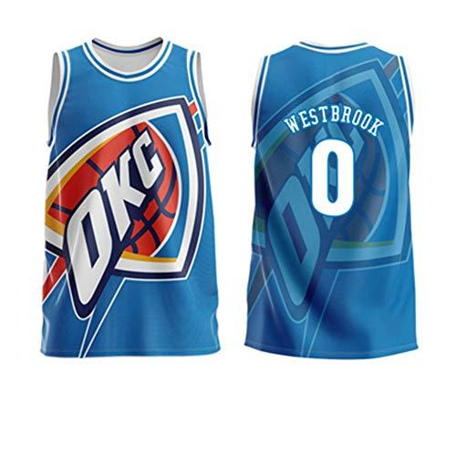 Z/A OKC # 0 Westbrook Trikots, Basketball Uniformen, Trainings-T-Shirts, Atmungsaktiv, Sport Und Freizeitbekleidung, Für Erwachsene Und Kinder Trikots, Geschenke Für Fans,M