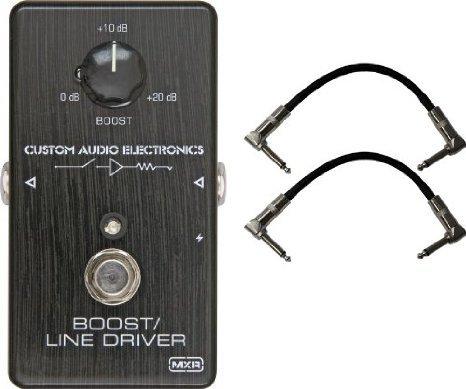 Dunlop MXR MC401 CAE BOOST Custom Audio Electronics ペダル w/ 2 Cables