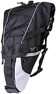 EVO Water Resistant, Large Volume Bike Saddle Bag Perfect for Bikepacking, Touring, Commuting – Universally Compatible Bike Attachment