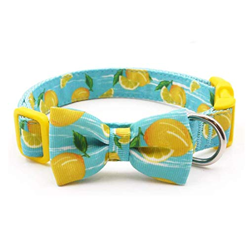 azuza Dog Collar Bow Tie, Soft Adjustable Bow tie Dog Collars for Large Dogs