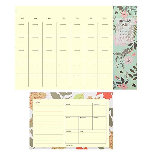 MoKo Wochenplaner & Monat Kalender, Einfach Abreißen 50 Blett ToDo Liste Tagesplaner Notizblock mit Hart Platte für Familie Zuhause Geschäft Büro