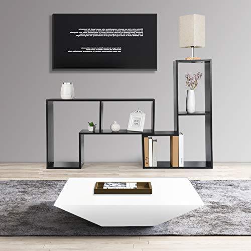 shunyi fashion Eckschrank Lowboard TV Schrank Moderner Fernsehtisch mit Offenen Regale, DIY Bücherregal, Optimieren Sie die Größe des Wohnzimmers