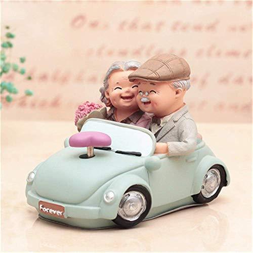 AOIWE Cumpleaños, boda, regalo de boda, anciano, anciano, sala de estar, personaje, decoración de resina (color: imagen 4, tamaño: 16,5 x 8,6 x 11,4 cm)