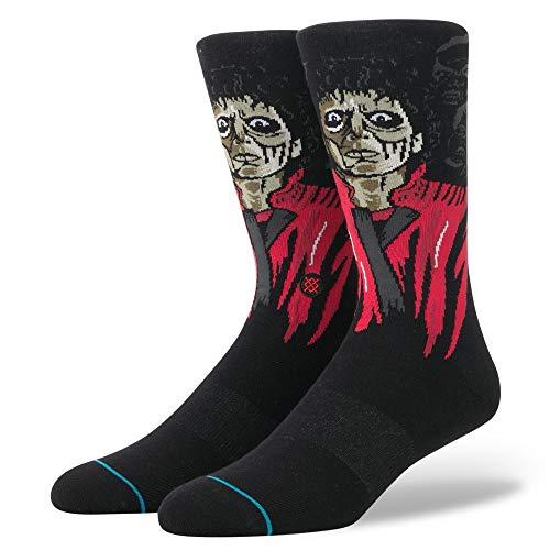 Stance Socks Chaussettes Thriller en Noir Avec Boucle Arc Terry Support/Talon et Toe/Fermeture Transparente Toe - L