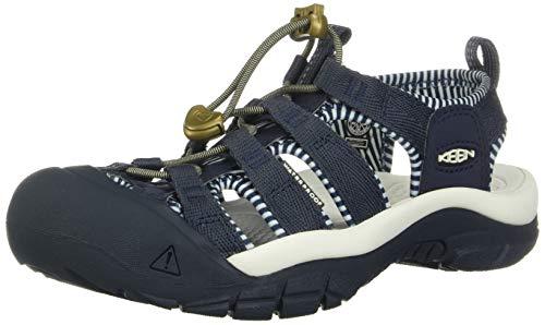 Keen Women's Newport H2 Closed Toe Water Shoe Sandal, Navy/White, 6 UK