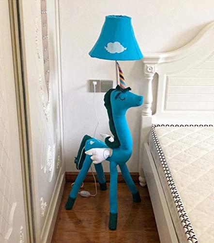 Lámpara de pie Habitación infantil Unicornio de dibujos animados Lámpara de pie Sala de estar creativa Decoración de estudio Lámpara de mesa vertical Dormitorio Lámpara de cabecera minimalista mo