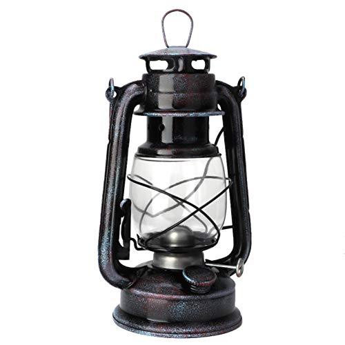 Pssopp Lámpara de Aceite de Linterna eléctrica Antigua con Acento rústico Vintage...