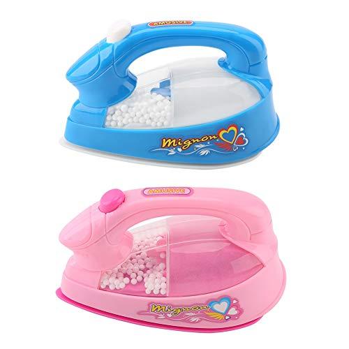 GAESHOW, 1 Unidad, Mini Plancha eléctrica de plástico Rosa, niños, niñas, Juegos de simulación, electrodomésticos, Juguete, minijugue