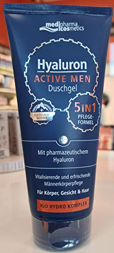 Dr. Theiss Naturwaren, HYALURON ACTIVE MEN Duschgel 200ml, farblos