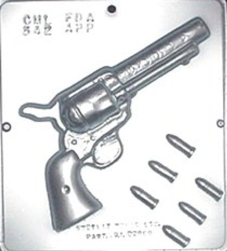 Miscellaneous 542 Candy Molds Revolver Gun with Bullets 8 Chocolate