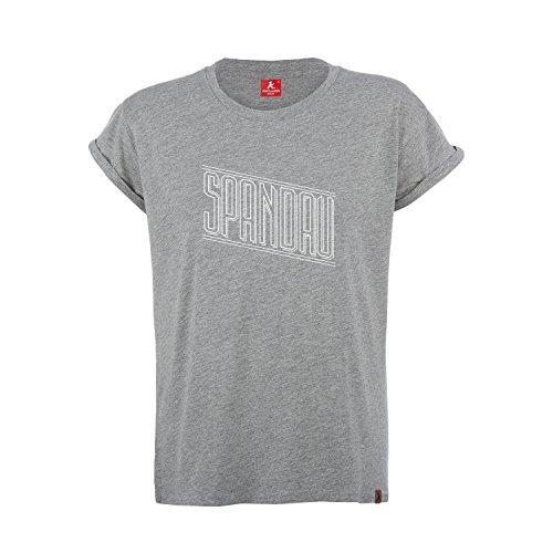 AMPELMANN Berlin Kiez Kollektion Spandau | T-Shirt Damen | Graumeliert Bio-Baumwolle & Viskose (L)