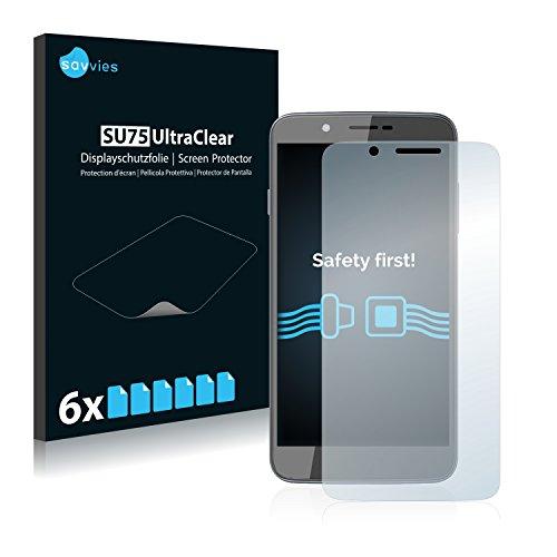 Savvies 6X Schutzfolie kompatibel mit Archos 55 Helium Bildschirmschutz-Folie Ultra-transparent