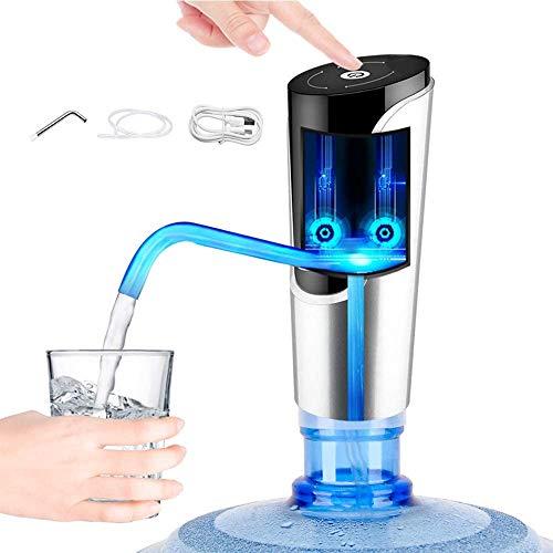 ZYLBDNB Bomba de Botella de Agua Carga USB portátil Inalámbrico Pantalla táctil eléctrica Dispensador de Agua Potable Botella de galón para Cocina casera Oficina Dispensador de Botella de Agua