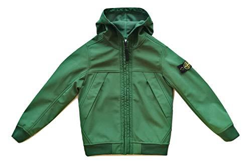 Stone Island 7316Q0130.V0053 - Chaqueta con capucha para niño, color verde Verde 12 años