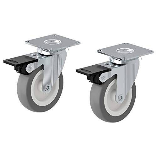 IKEA RILL Rollen drehbar mit Bremse in grau; 2 Stück; 75mm