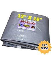 SHILPLINE 100% Pure Virgin UV Waterproof Tarpaulin, 170 GSM, 12x18 Ft (Silver and White)