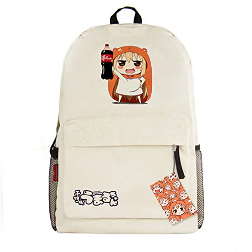 WANHONGYUE Himouto! Umaru-chan Anime Cosplay Zaino Casual Daypack Backpack Borsa da Viaggio Zainetto Beige /4