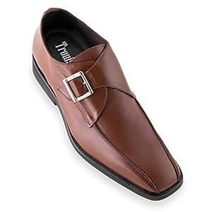 Zapatos de Hombre con Alzas Que Aumentan Altura hasta 7 cm. Fabricados en Piel. Modelo Venecia Marron 40