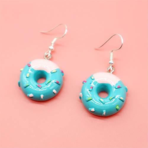 baijuxing Macaron 925 Sterling Silber Ohrringe Ohrringe süße Studentin Donut Essen Ohrringe personalisierte Geschenk
