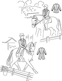 Field's Fabrics Suitability 5850 Womens Dressage Coat and Shadbelly Equestrian Sewing Pattern