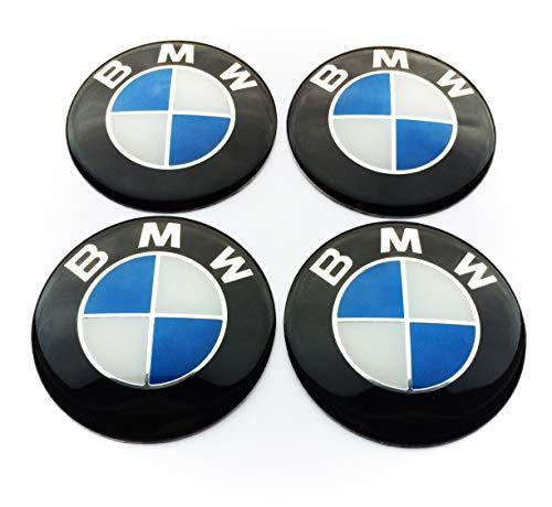 4 Rad mitte kappen aufkleber 70 mm BmwEmbleme gewölbt logo selbstklebendes radnabedkappen felgendeckel