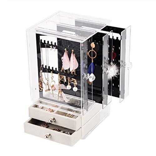 Organizador de joyas Joyería Organizador de acrílico caja de exhibición del collar pendientes pulsera de almacenamiento caso Percha Decoración Mujeres Muchachas del regalo del maquillaje Soporte de ex