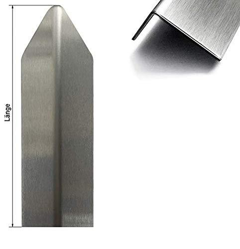 1 Edelstahl Eckschutzwinkel Modern 30x30mm 1,0x1.500 mmGrößen, Aussen Schliff Korn 320-1 fach gekantet