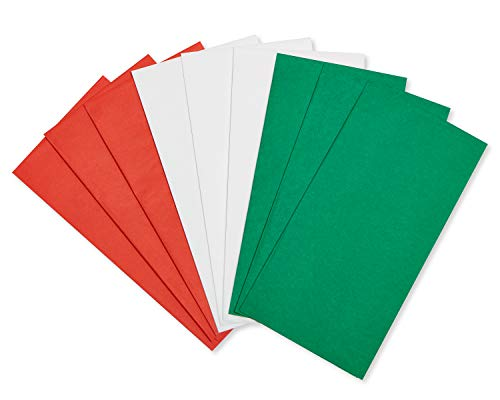 American Greetings Bulk Tissue Paper for Christmas, Holidays, and Special Occasions, Red, Green and White (125-Sheets)