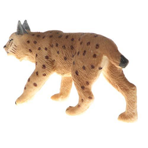 B Blesiya Figura de Animales Salvajes de Simulación Realista Juguete Educativo de Ciencia de Naturaleza para Niños - Lince