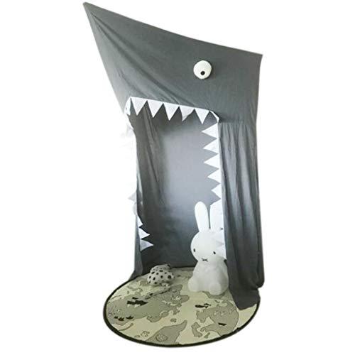 Yunyisujiao Baldachin hängendes Spielzelt, kreatives Hai-Abenteuer-Zelt-Kindspiel-Zelt-Moskitonetz, verwendbar für Kinderzimmer verzieren für Babykinder Innen-im Freien - grau