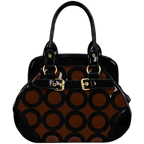 FASH Limited, Borsa a mano donna One Size, Multicolore (Brown & White), One Size