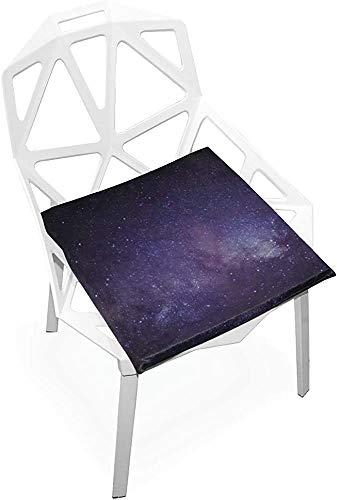Mesllings - Cojín para silla de oficina (espuma viscoelástica suave, antideslizante), diseño de Vía Láctea