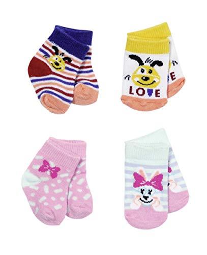 BABY born Surtido de Calcetines 43 cm, Juego de 2, Para Niños a Partir de 3 años, Fácil de Usar para Manos Pequeñas, Incluye dos Modelos de Calcetines