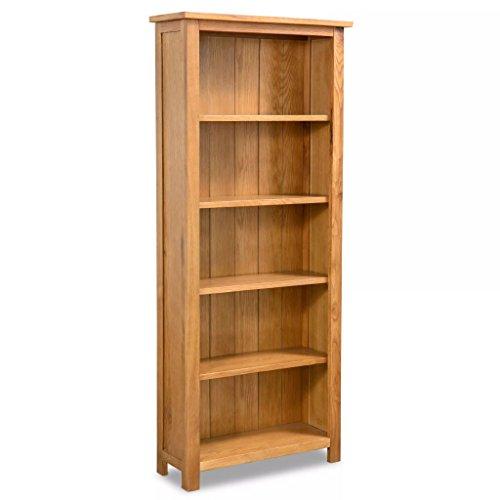 vidaXL Eiche Bücherregal 5 Fächer 60x22,5x140cm Standregal Holzregal Büroregal