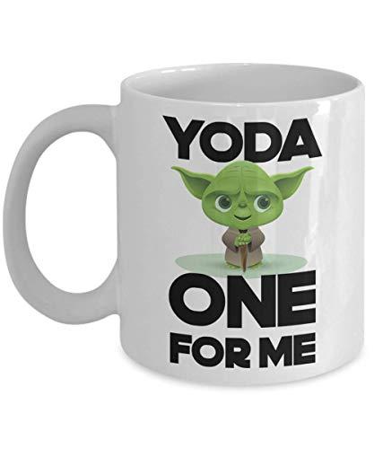 Yoda One For Me Mug for Valentines Day Boyfriend Anniversary Gift for Men or Women Funny Pun Gag Gift