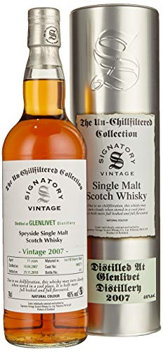 Signatory Vintage GLENLIVET 11 Years Old The Un-Chillfitlered Collection 2007 Whisky (1 x 0.7 l)
